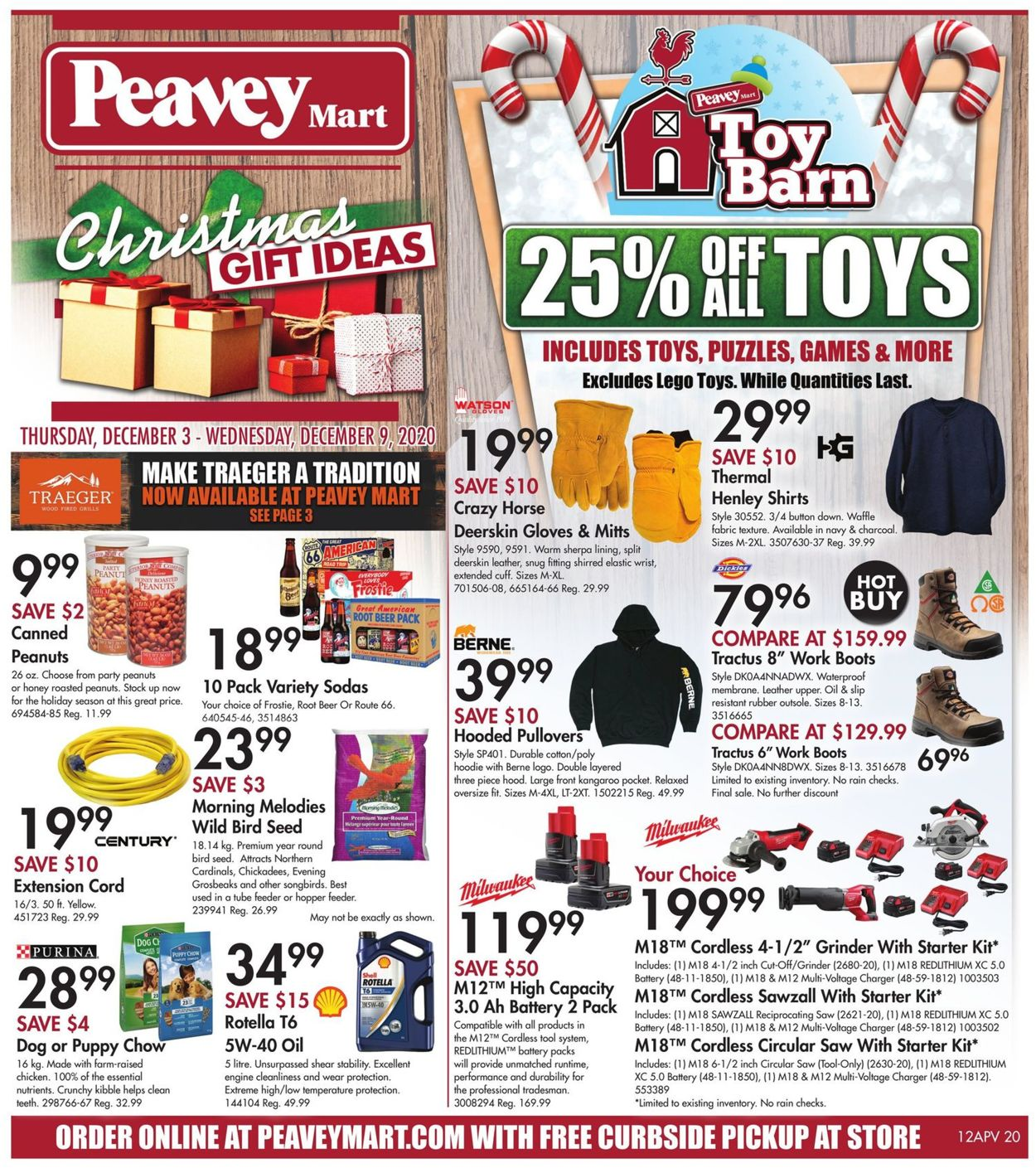 Peavey Mart - Christmas 2020 Flyer - 12/03-12/09/2020