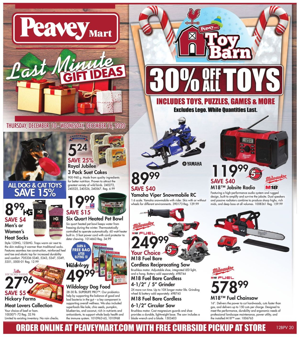 Peavey Mart - Christmas 2020 Flyer - 12/10-12/16/2020