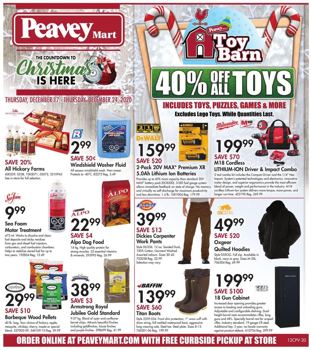 Peavey Mart - Christmas 2020 Flyer - 12/17-12/24/2020