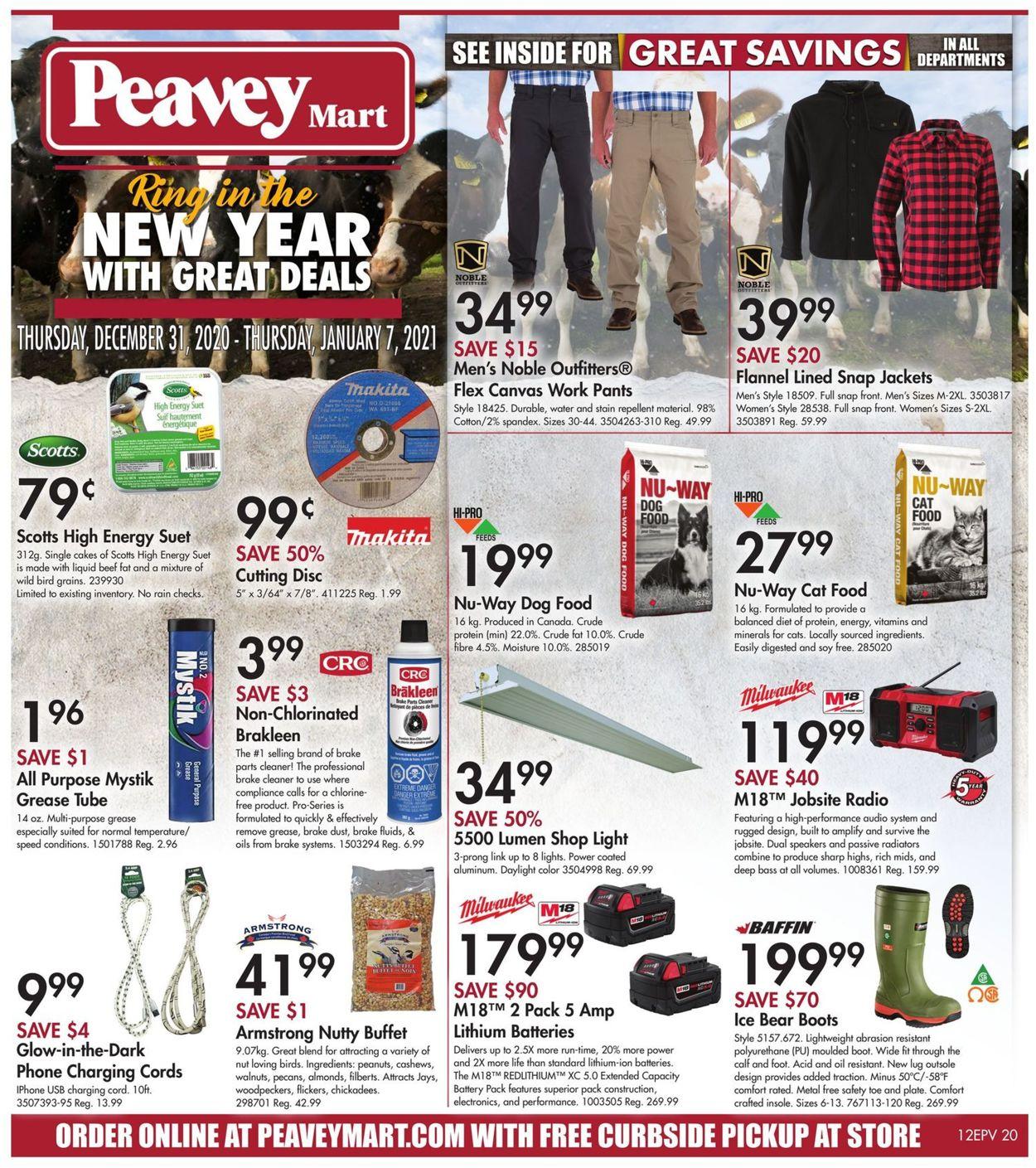 Peavey Mart - New Year 2021 Flyer - 12/31-01/07/2021