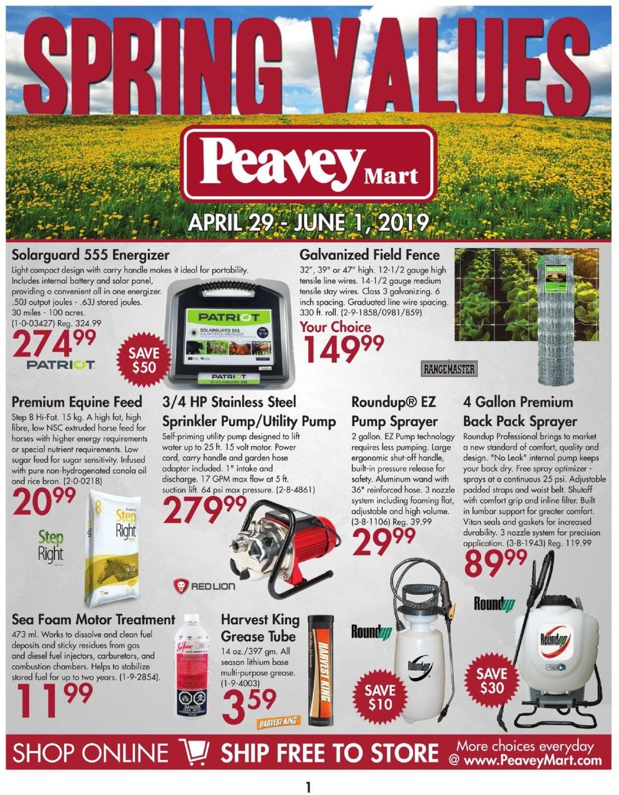 Peavey Mart Flyer - 04/29-06/01/2019