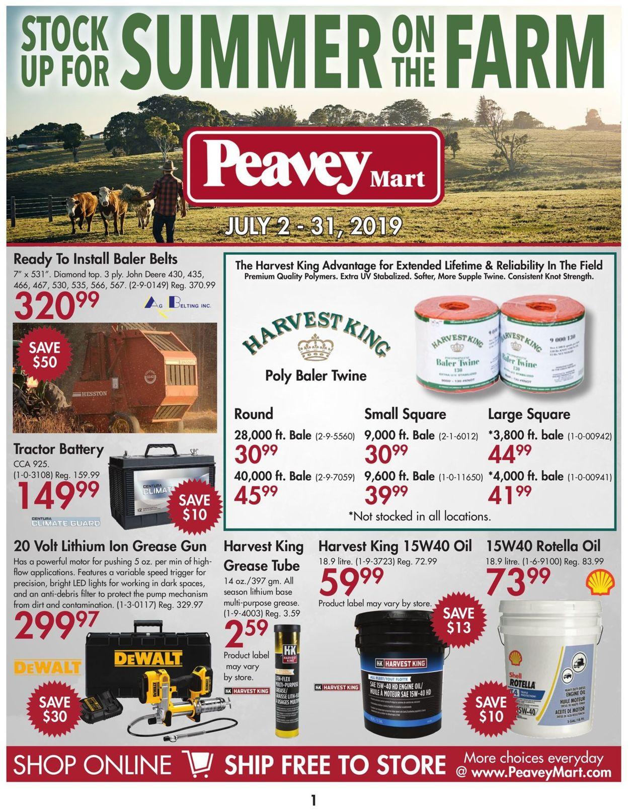 Peavey Mart Flyer - 07/02-07/31/2019