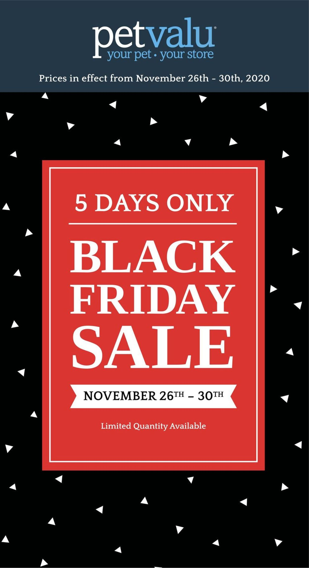 Pet Valu - Black Friday 2020 Flyer - 11/26-11/30/2020