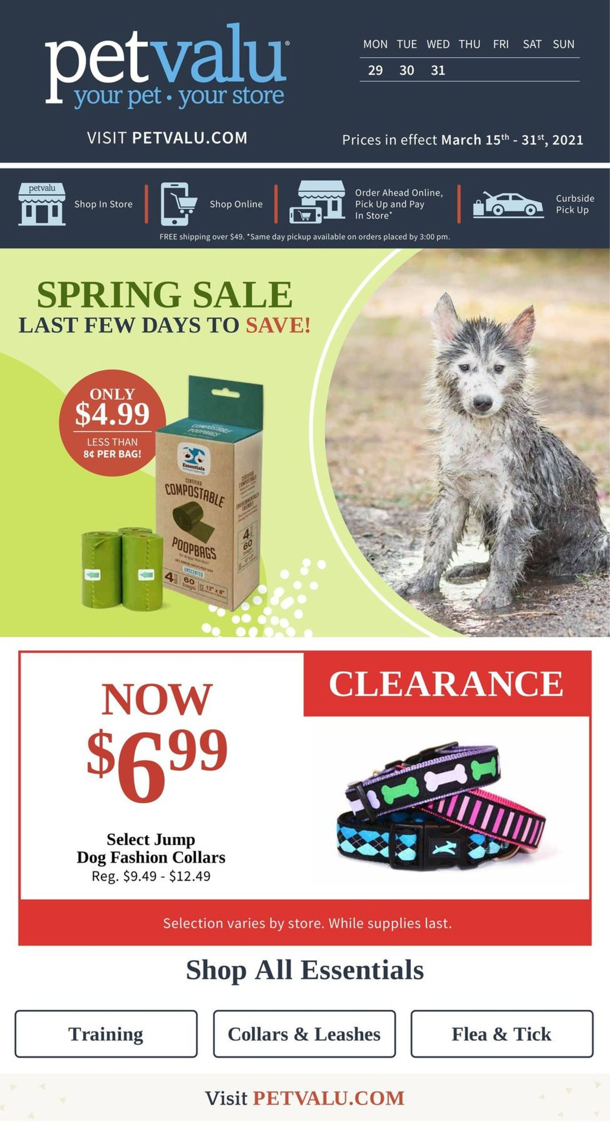Pet Valu Flyer - 03/15-03/31/2021