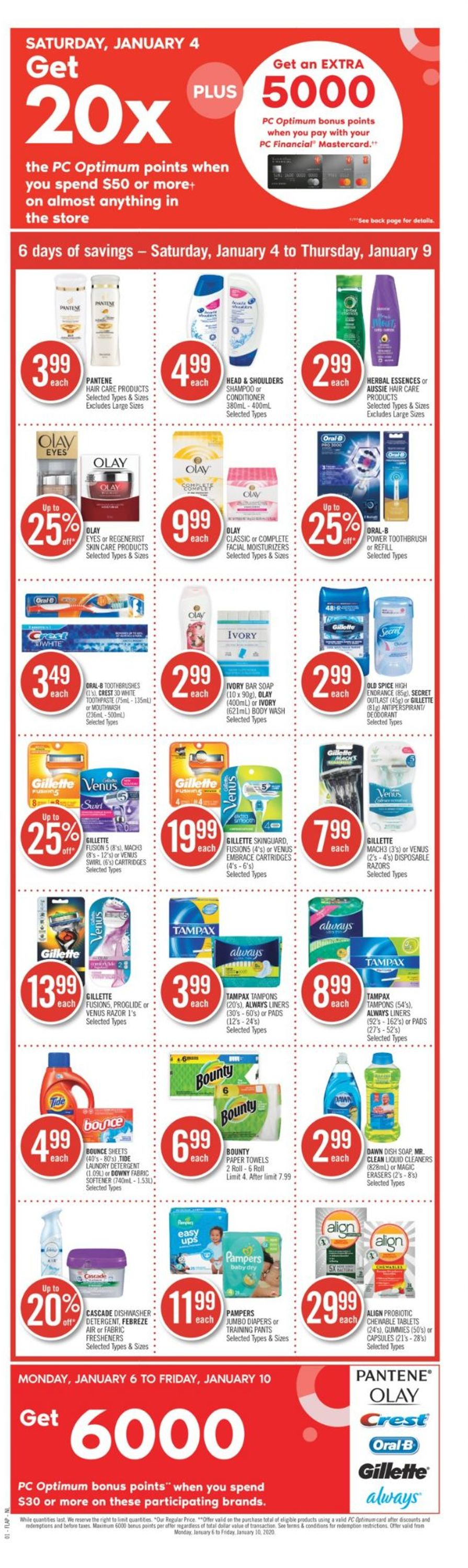 Pharmaprix Flyer - 01/04-01/09/2020