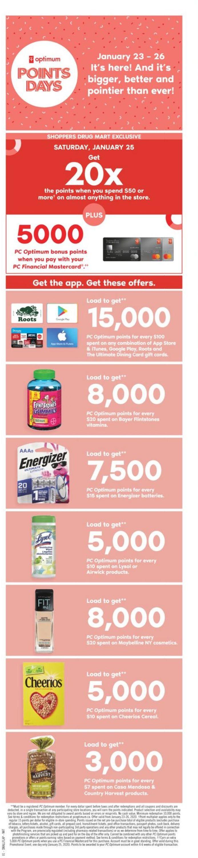 Pharmaprix Flyer - 01/25-01/30/2020
