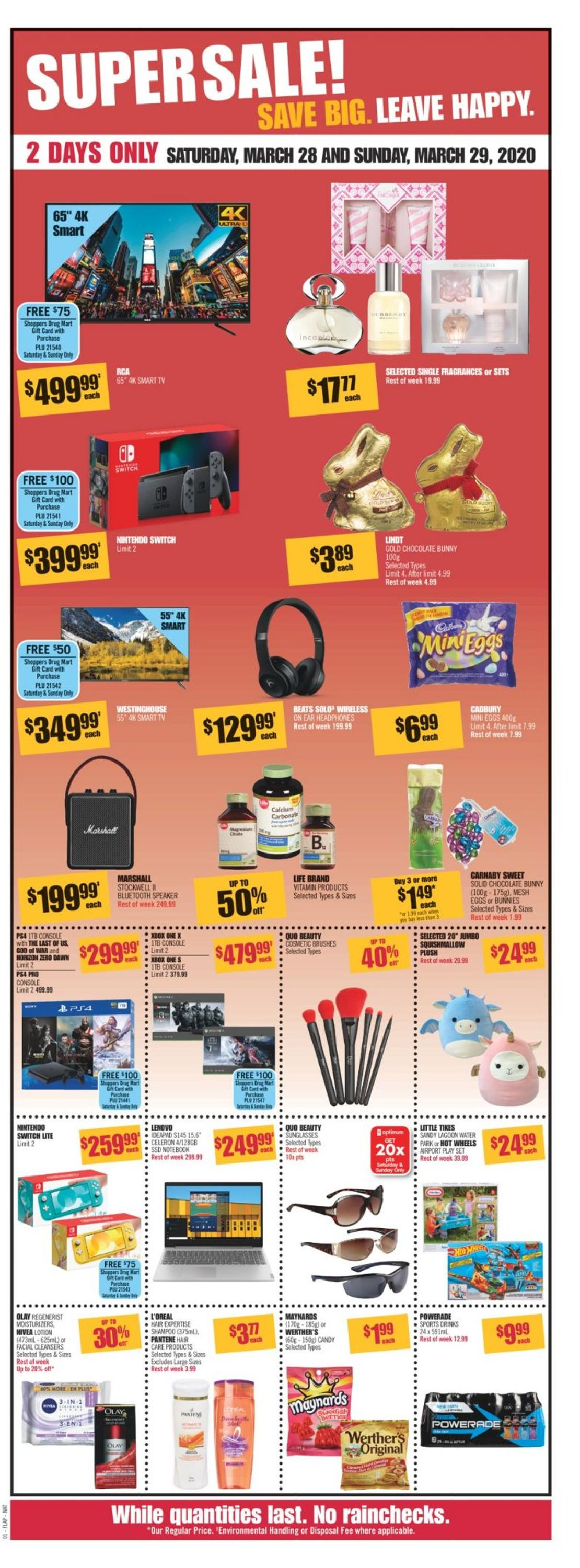 Pharmaprix Flyer - 03/28-04/03/2020