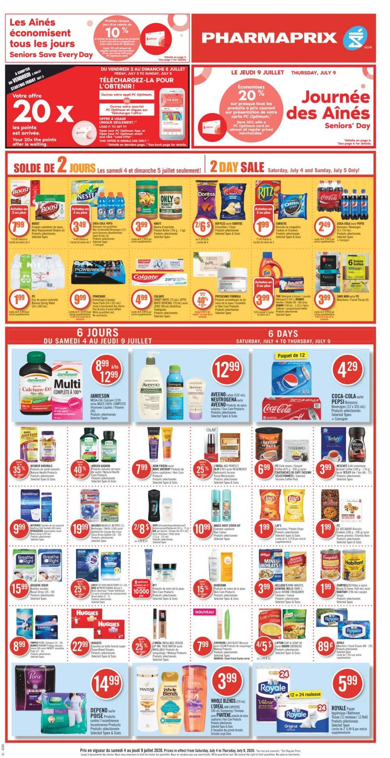 Pharmaprix Flyer - 07/04-07/09/2020 (Page 4)