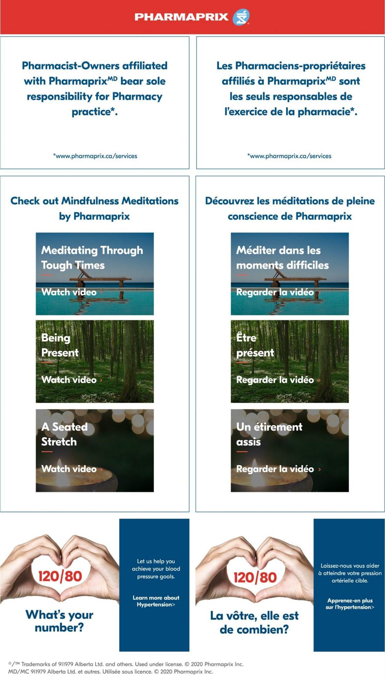 Pharmaprix Flyer - 08/15-08/21/2020