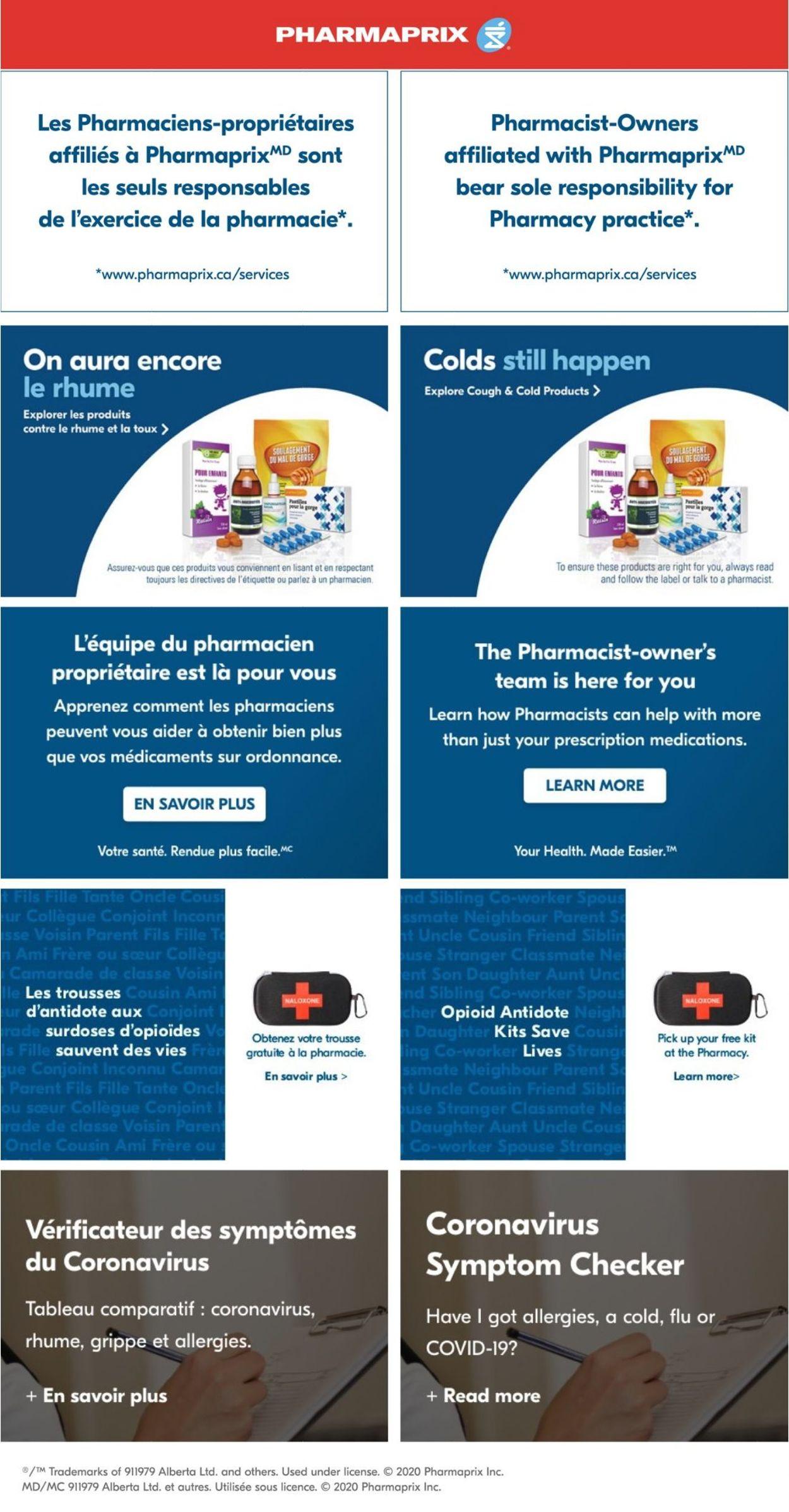 Pharmaprix Flyer - 09/26-10/01/2020
