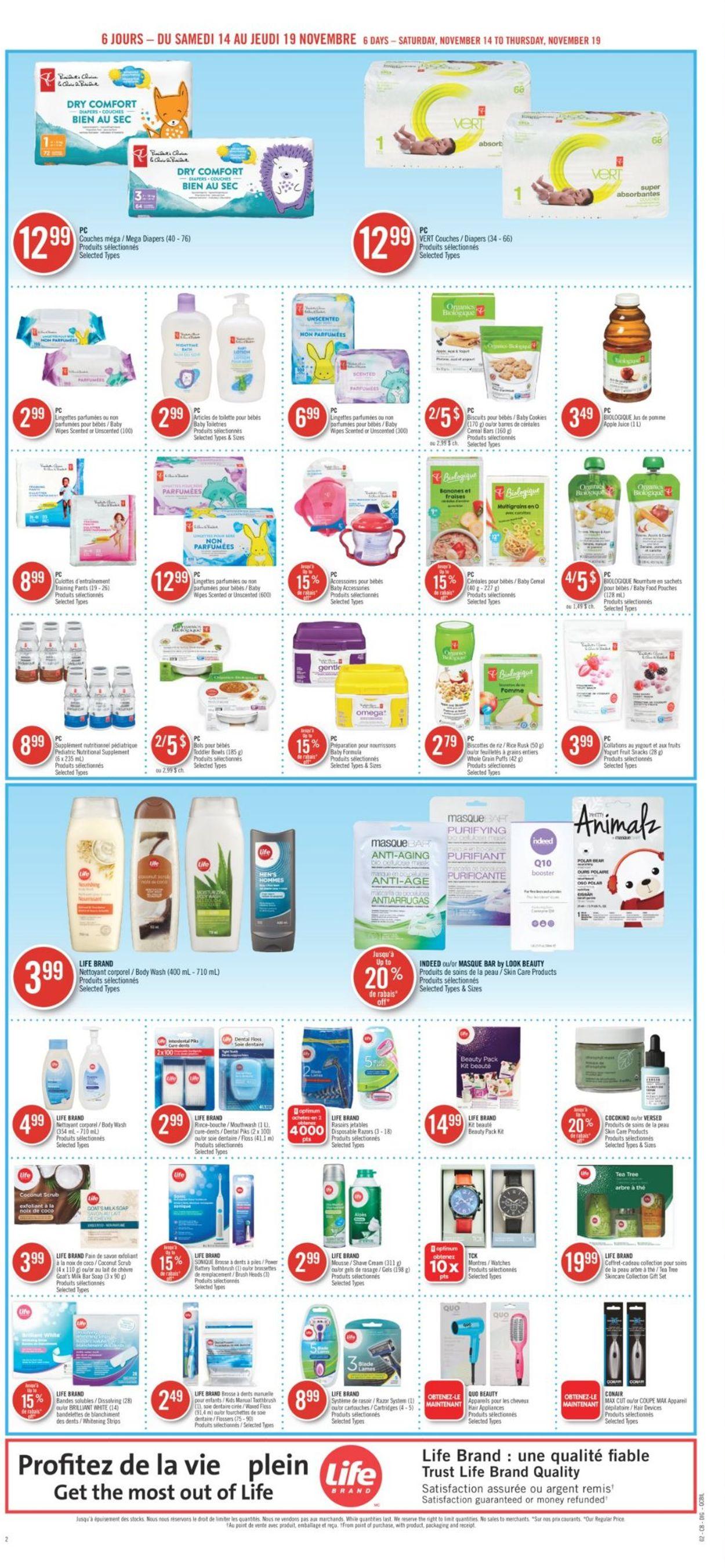 Pharmaprix Flyer - 11/14-11/19/2020 (Page 22)
