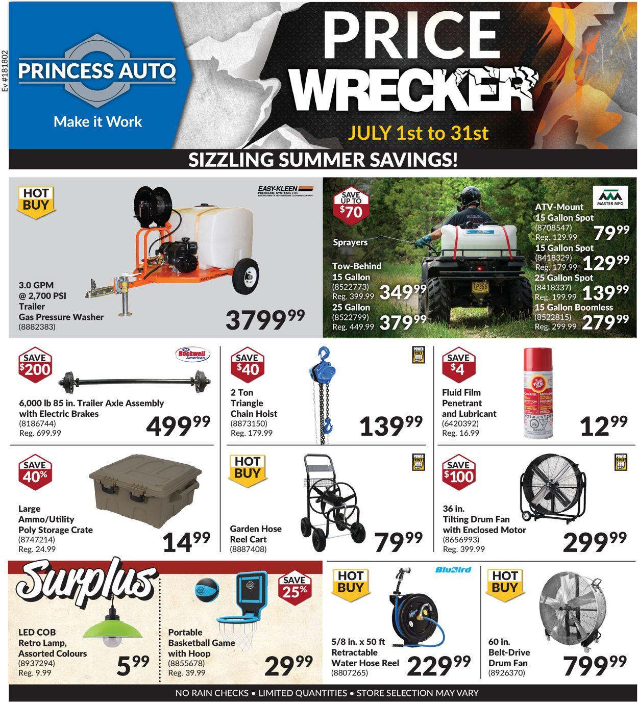 Princess Auto Flyer - 07/01-07/31/2020