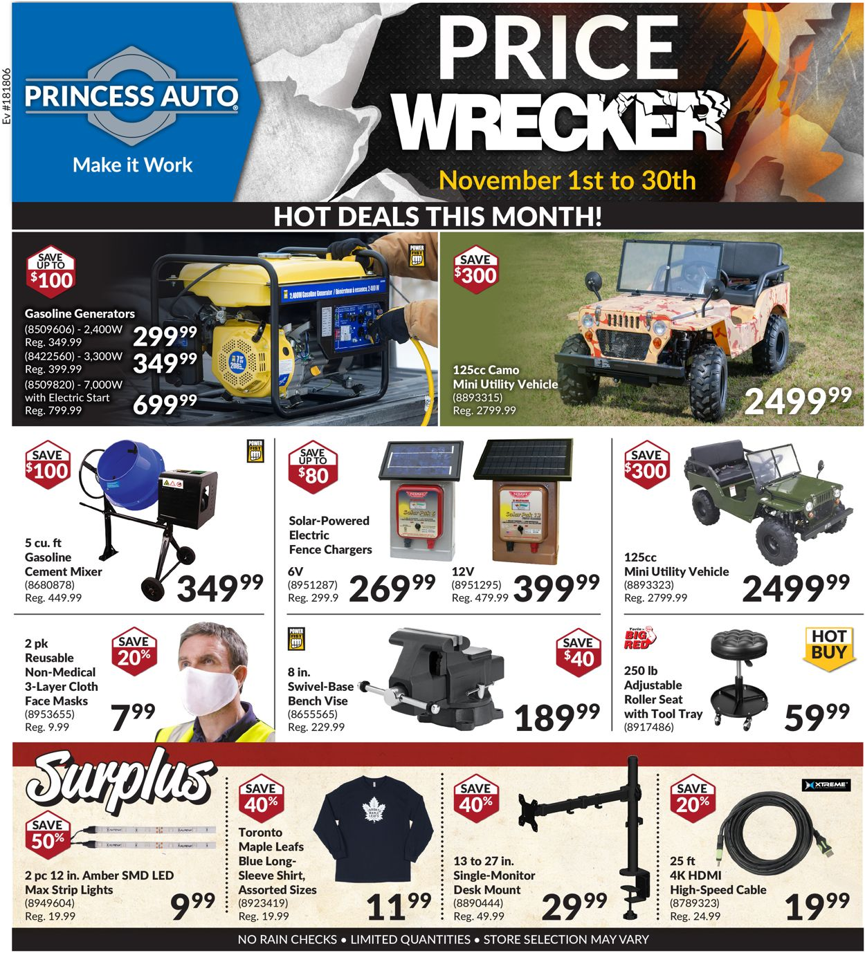 Princess Auto Flyer - 11/01-11/30/2020