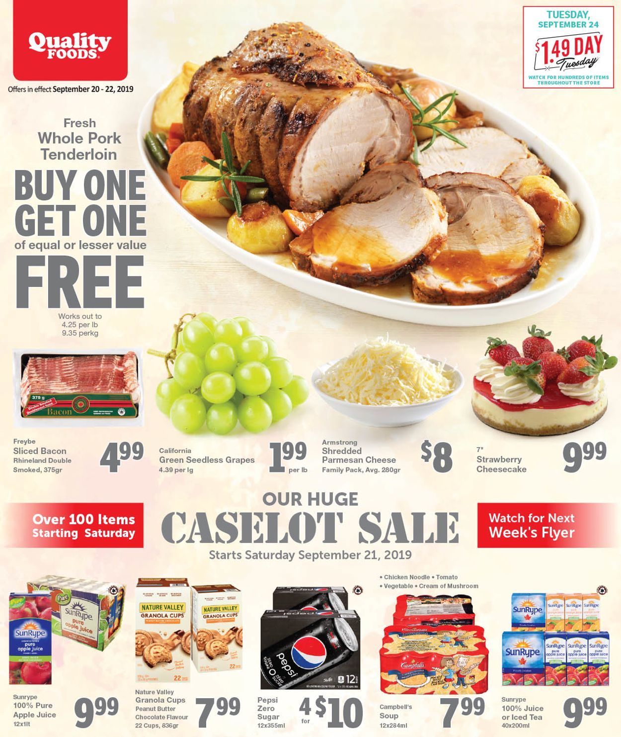 Quality Foods Flyer - 09/20-09/22/2019