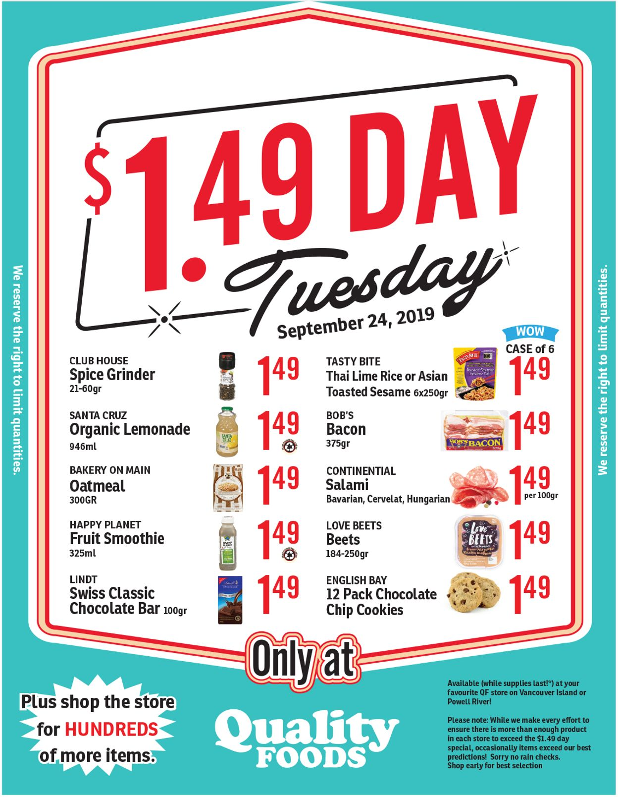Quality Foods Flyer - 09/24-09/24/2019