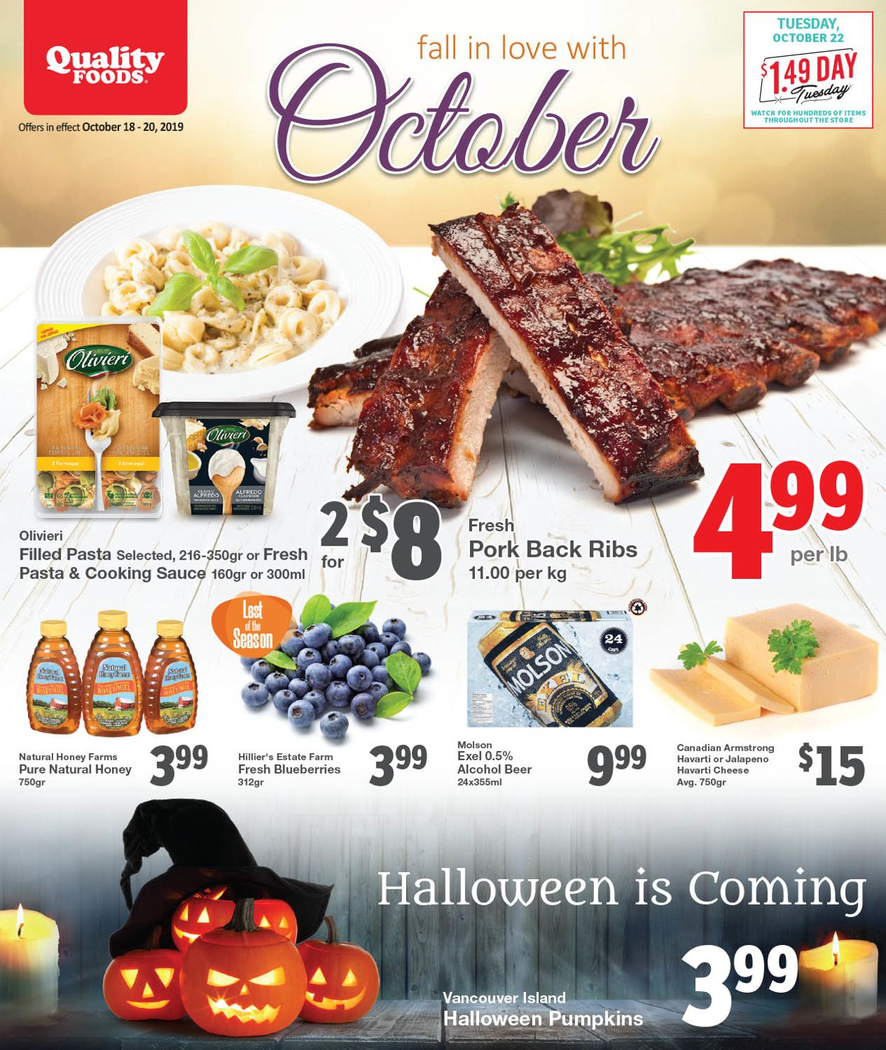 Quality Foods Flyer - 10/18-10/20/2019