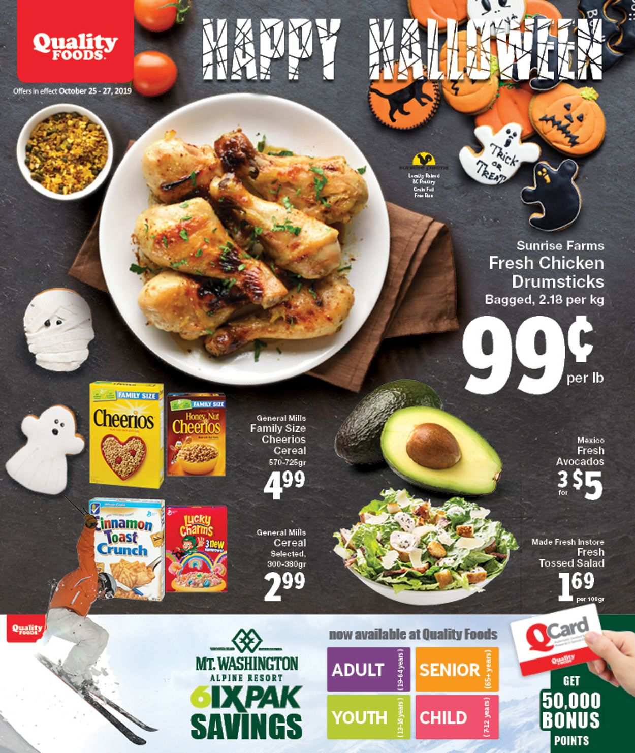 Quality Foods Flyer - 10/25-10/27/2019
