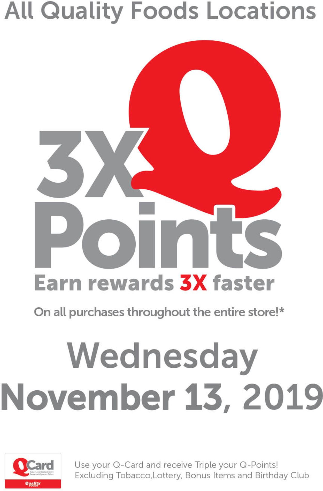 Quality Foods Flyer - 11/11-11/13/2019