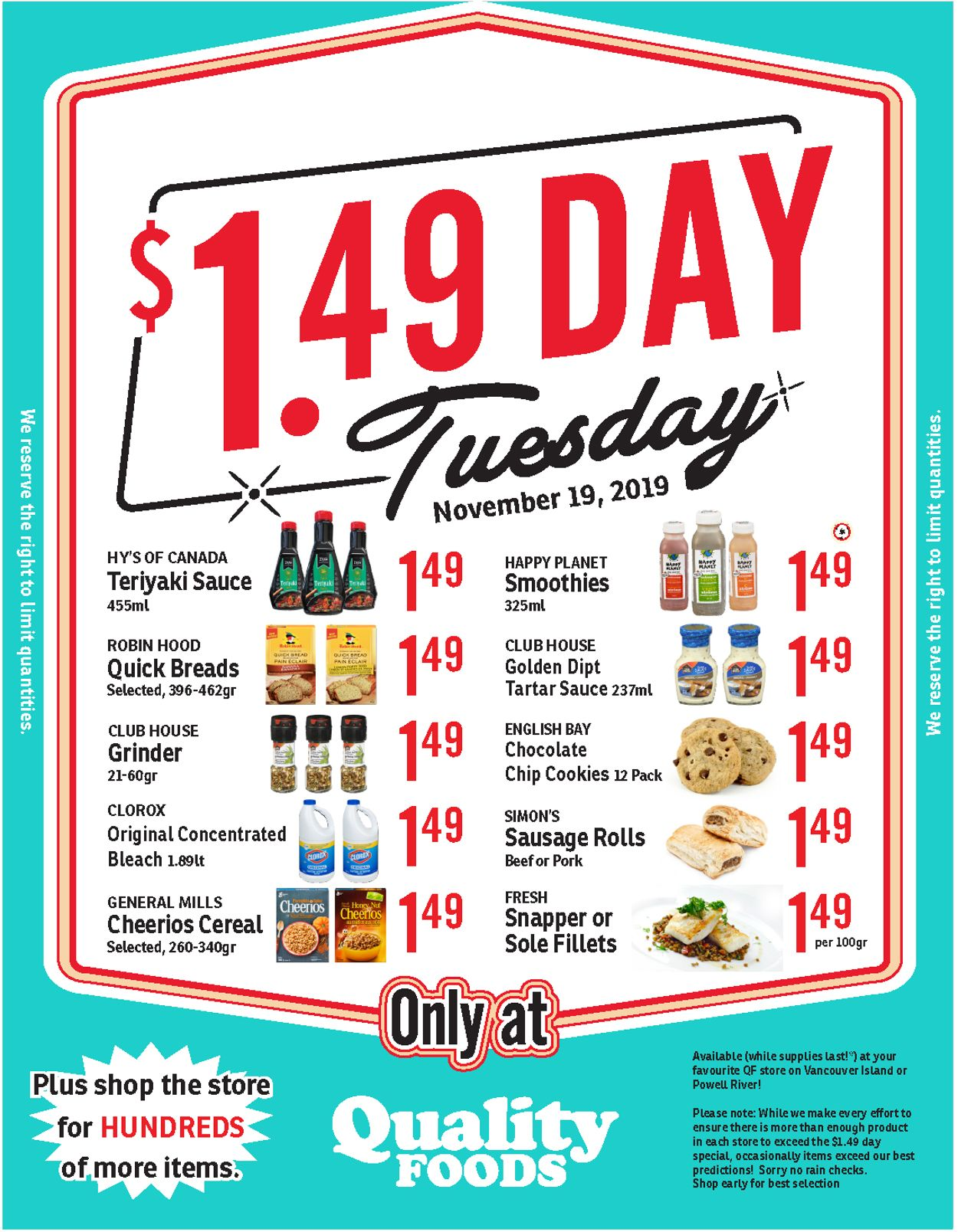Quality Foods Flyer - 11/19-11/19/2019