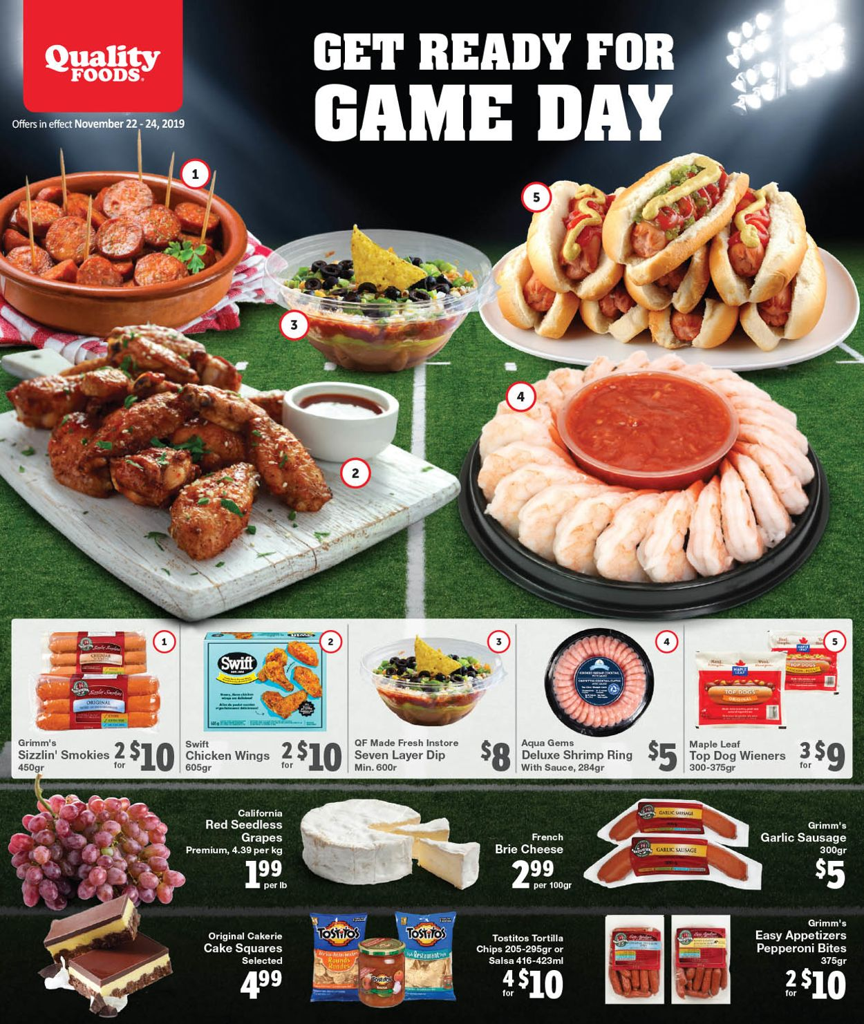 Quality Foods Flyer - 11/22-11/24/2019