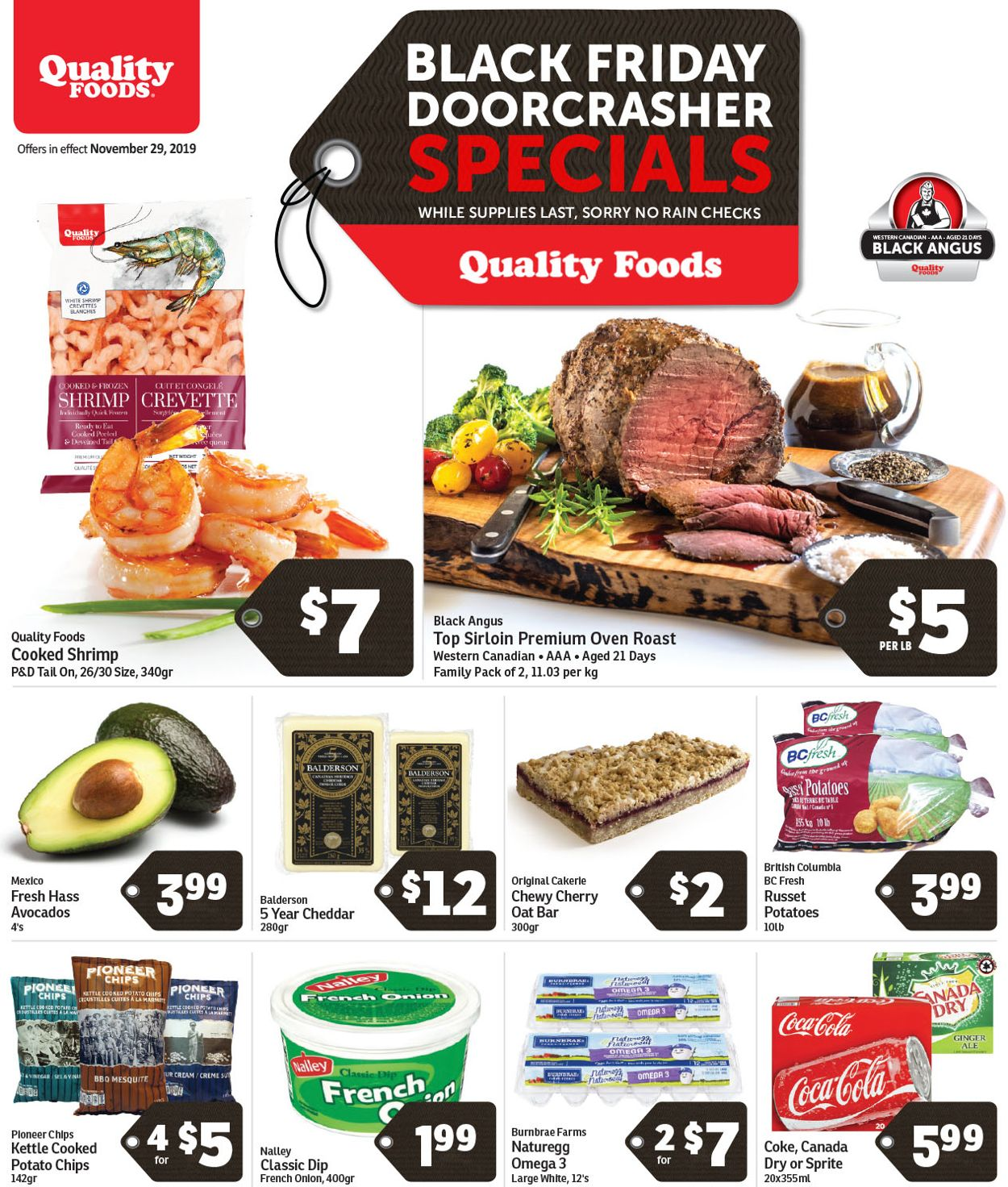 Quality Foods - Black Friday 2019 Flyer