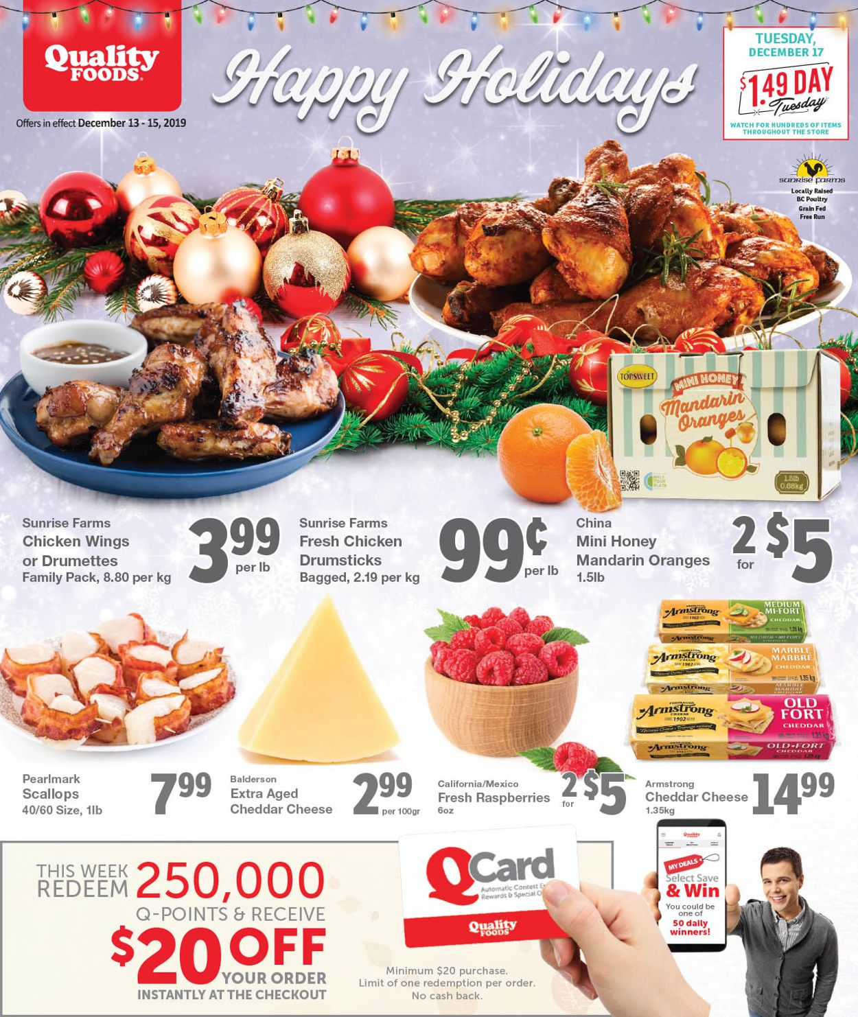Quality Foods - Holiday 2019 Flyer