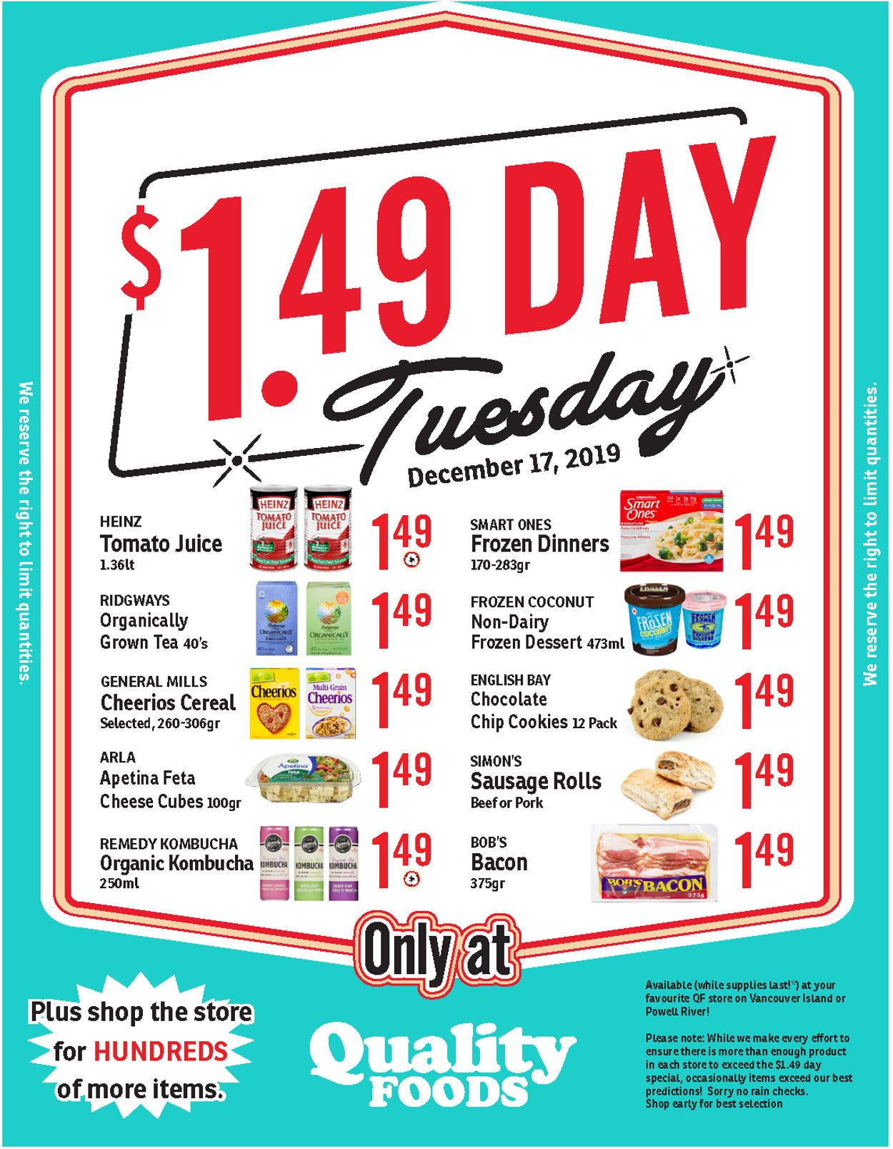 Quality Foods Flyer - 12/17-12/17/2019