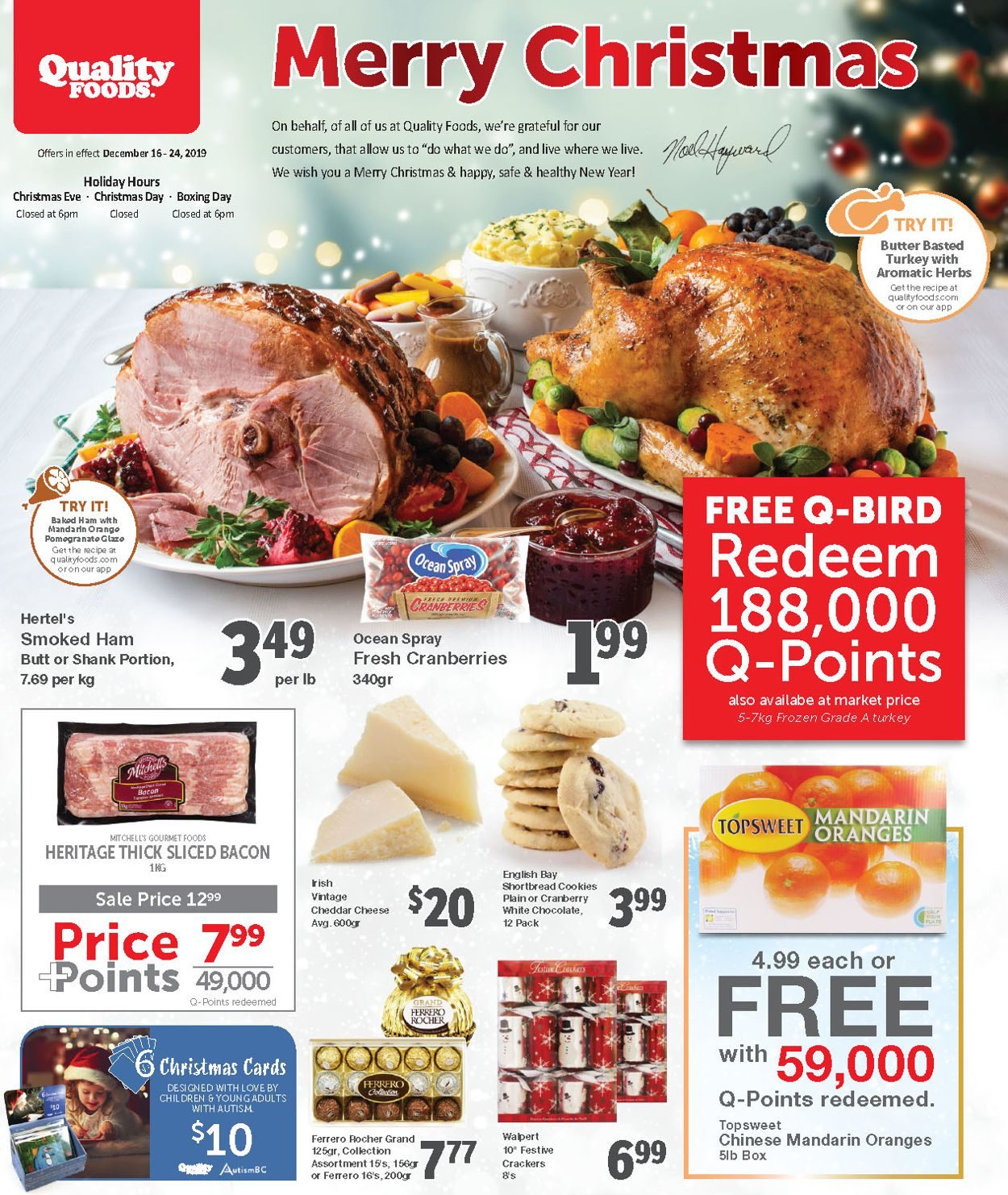 Quality Foods - Christmas 2019 Flyer Flyer - 12/16-12/24/2019