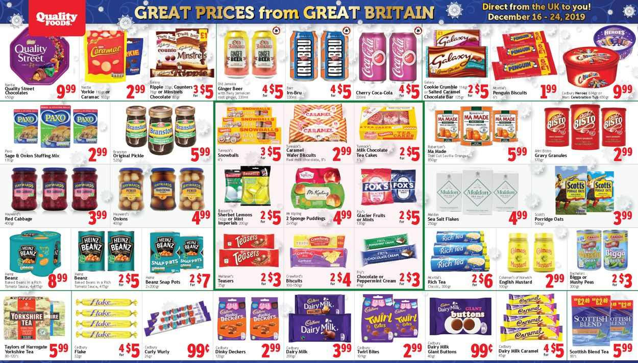 Quality Foods - Christmas 2019 Flyer