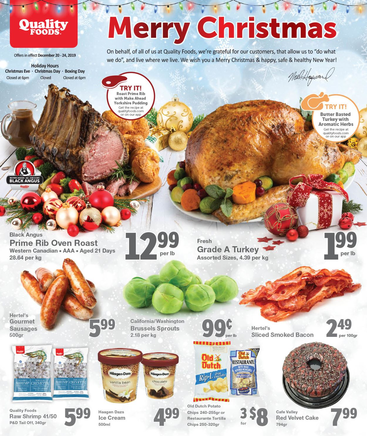 Quality Foods - Christmas 2019 Flyer Flyer - 12/20-12/24/2019
