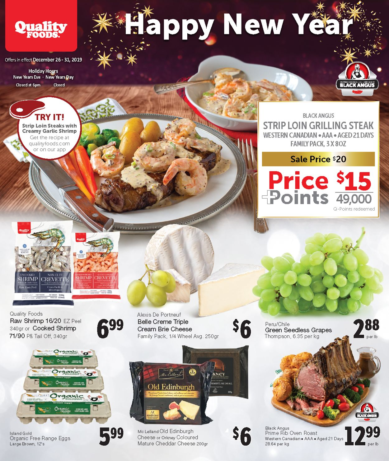Quality Foods Flyer - 12/26-12/31/2019