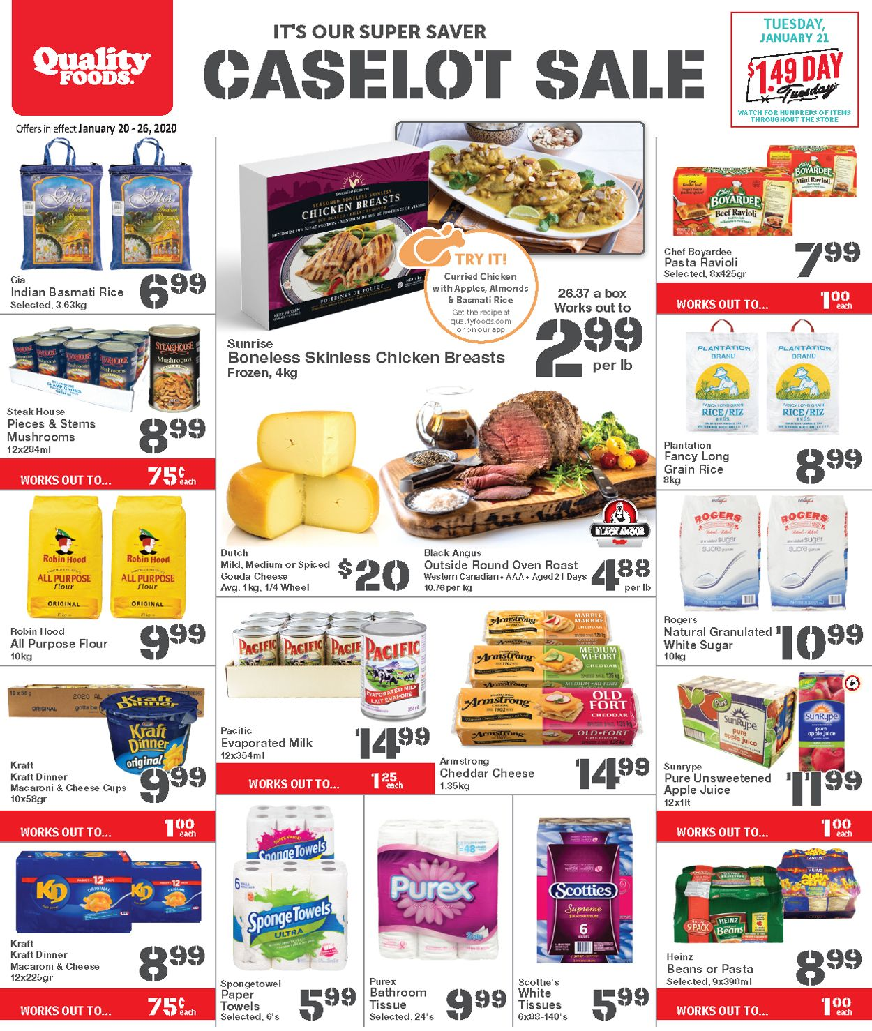 Quality Foods Flyer - 01/20-01/26/2020