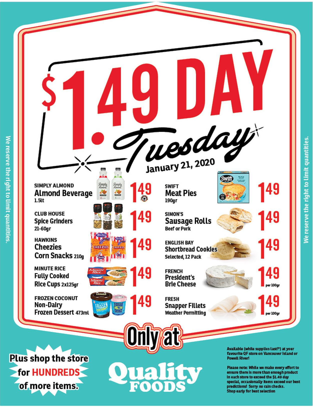 Quality Foods Flyer - 01/20-01/21/2020