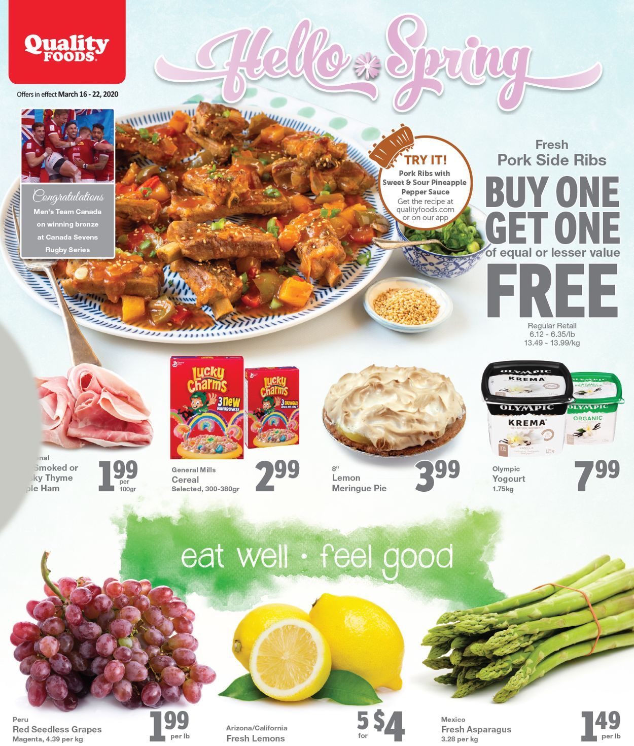 Quality Foods Flyer - 03/16-03/22/2020