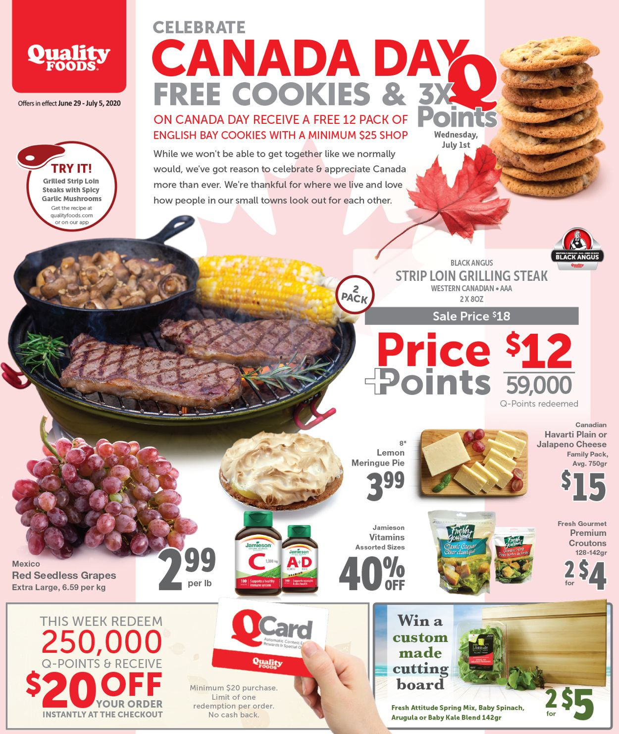 Quality Foods Flyer - 06/29-07/05/2020