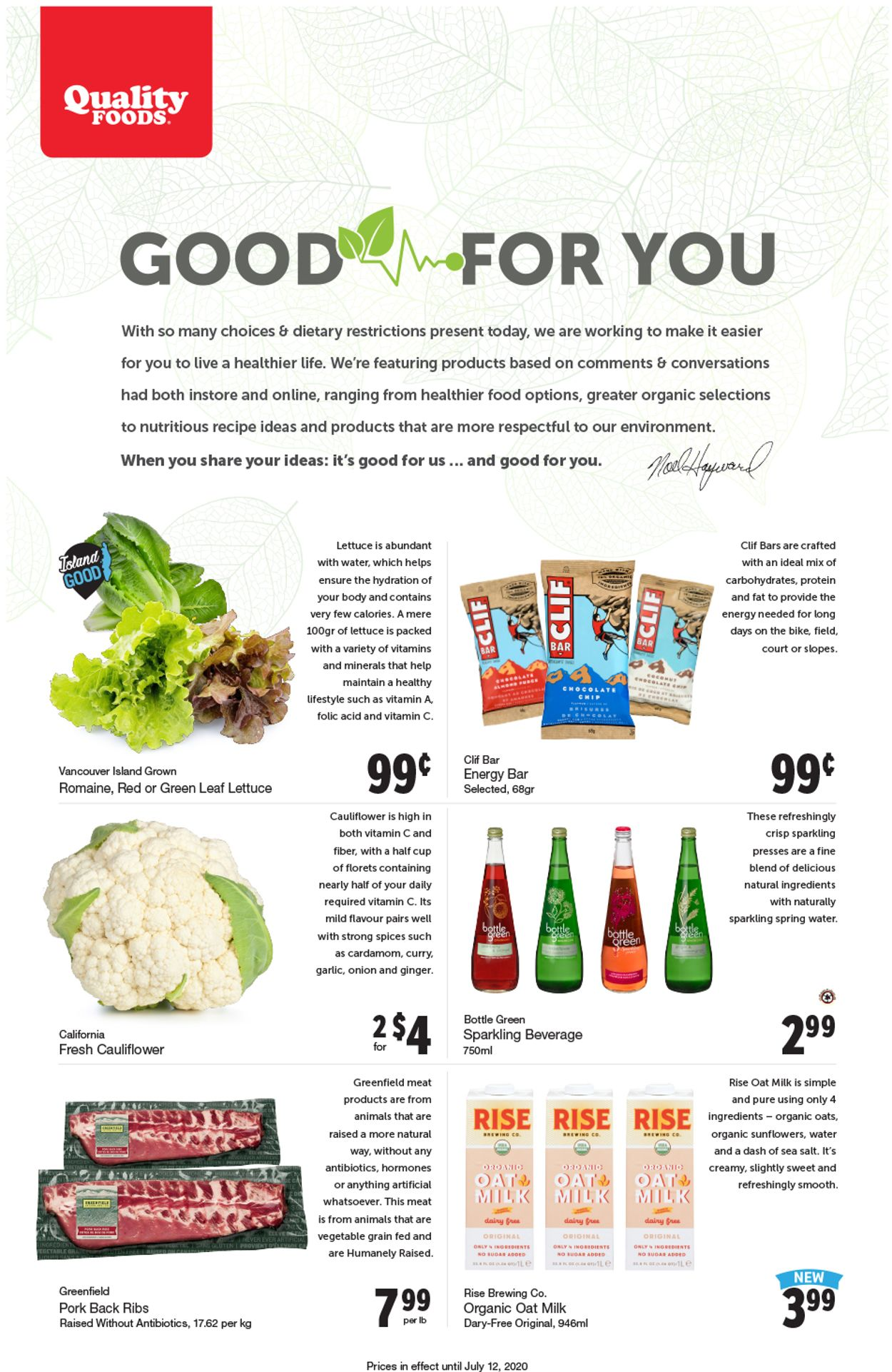 Quality Foods Flyer - 07/06-07/12/2020