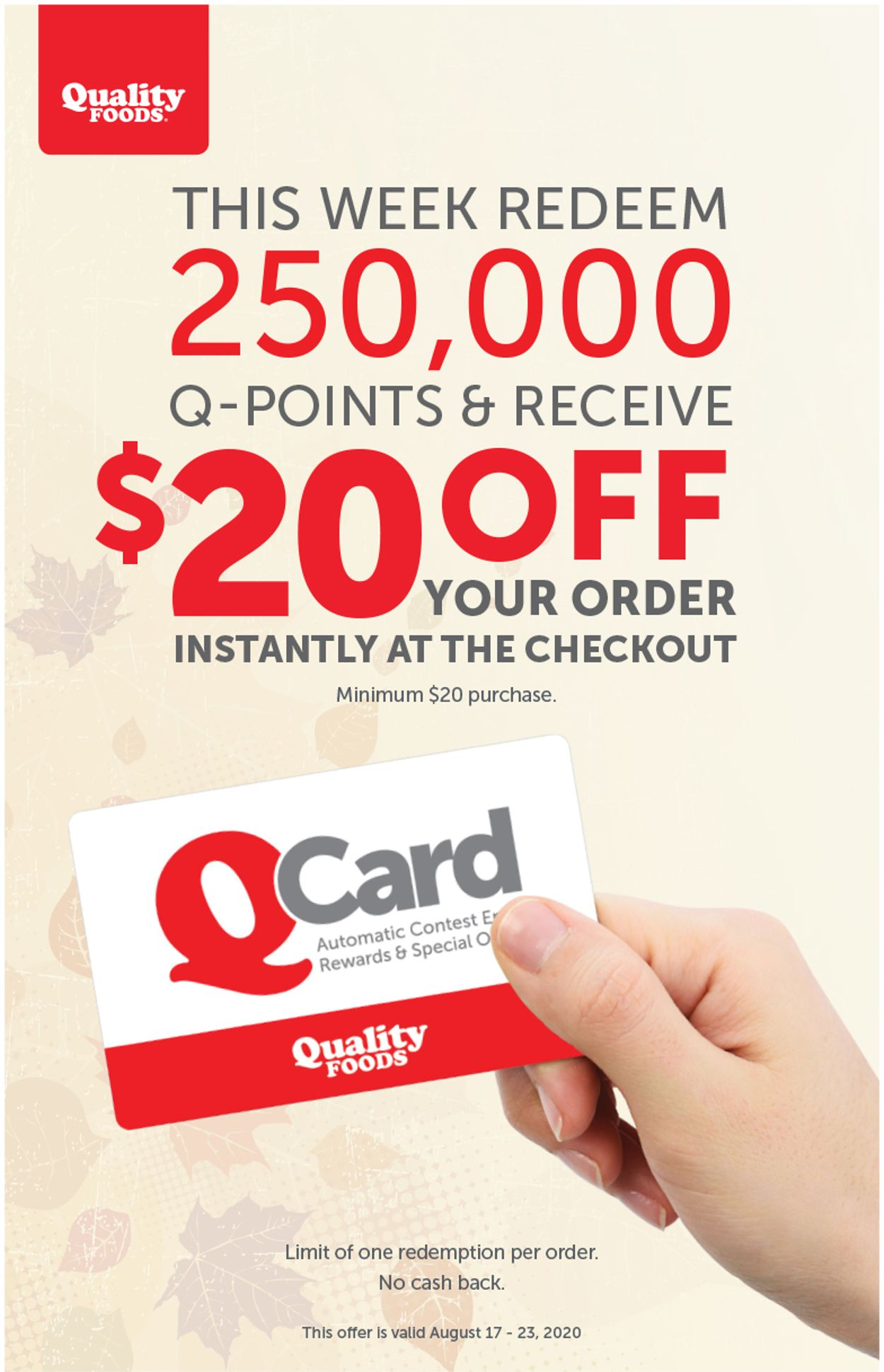 Quality Foods Flyer - 08/17-08/23/2020