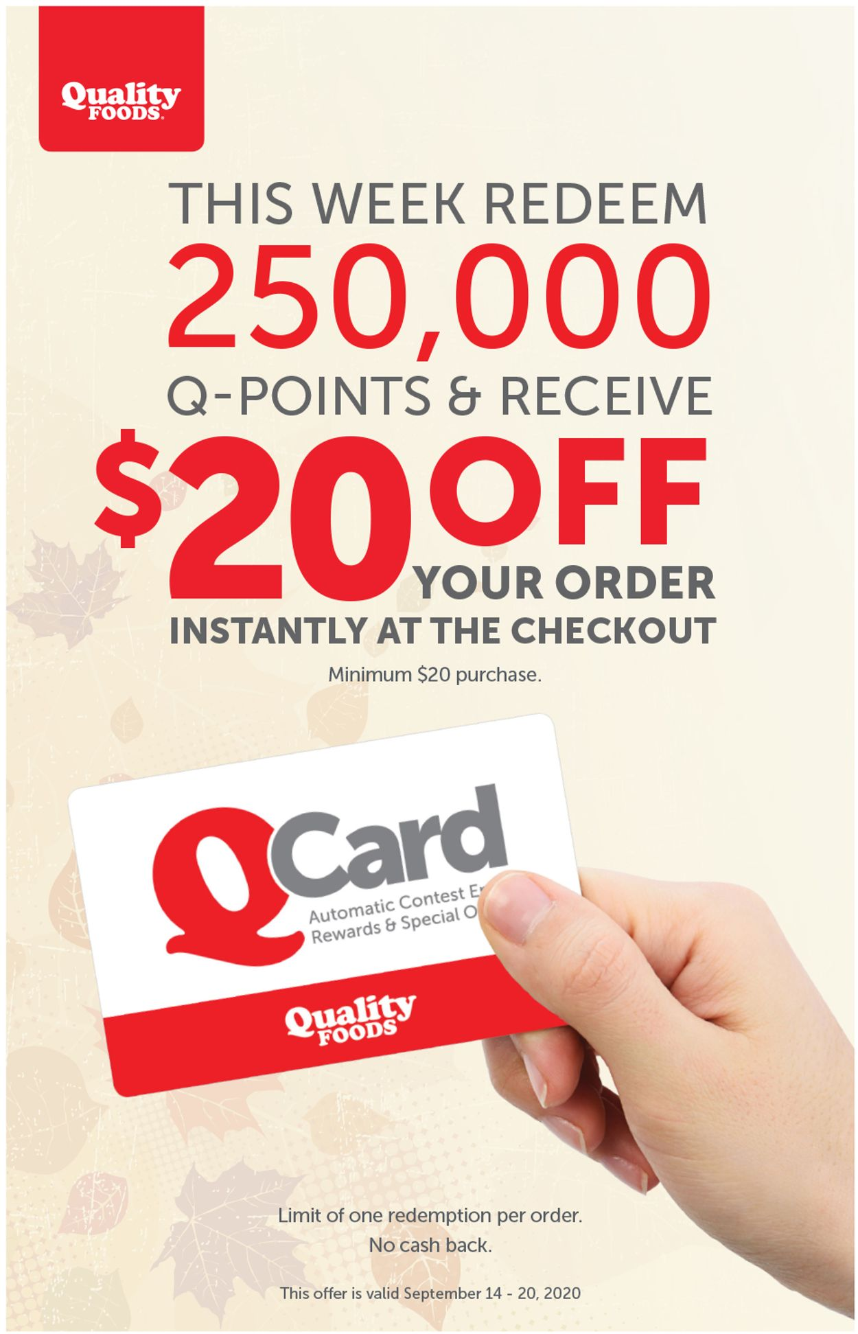 Quality Foods Flyer - 09/14-09/20/2020