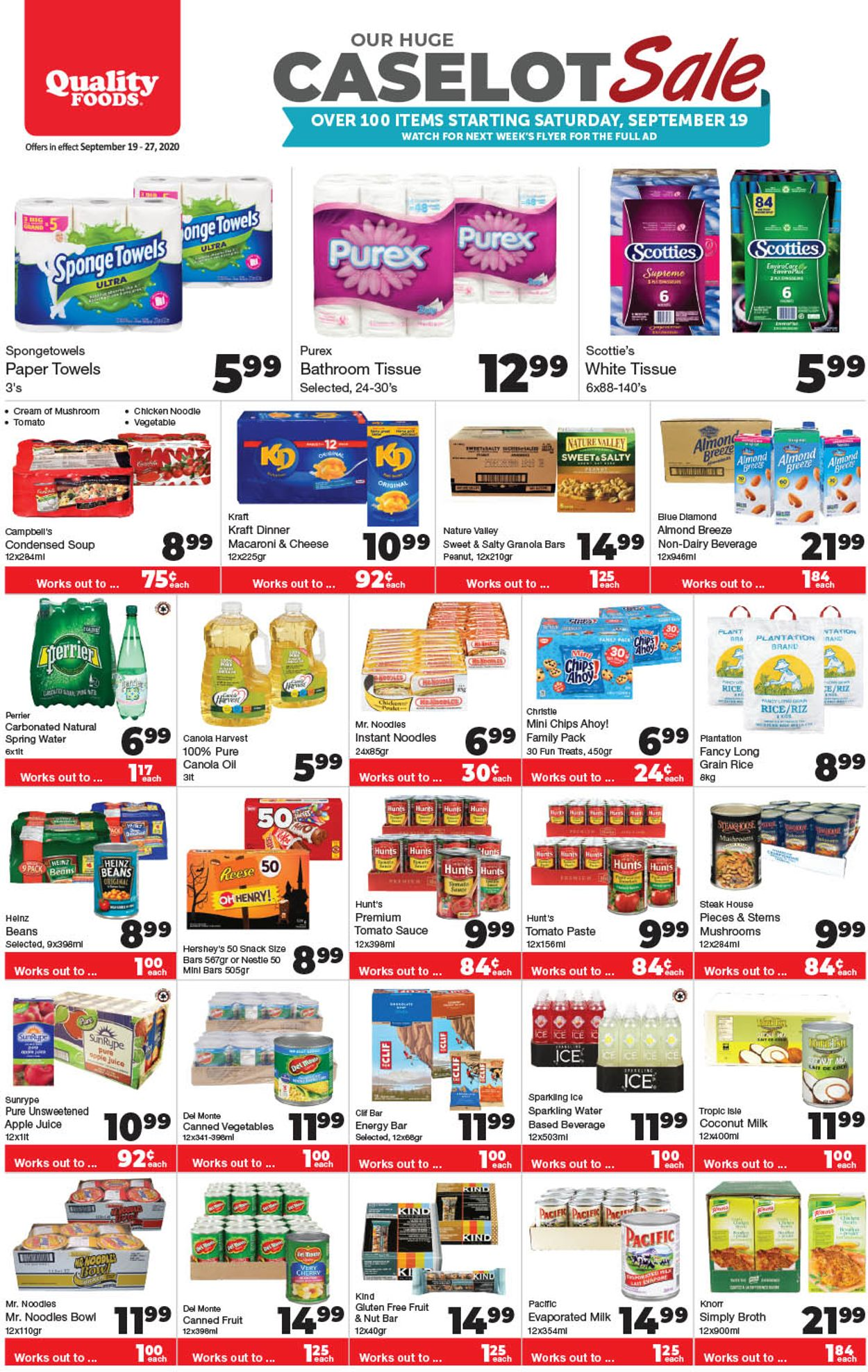 Quality Foods Flyer - 09/19-09/20/2020