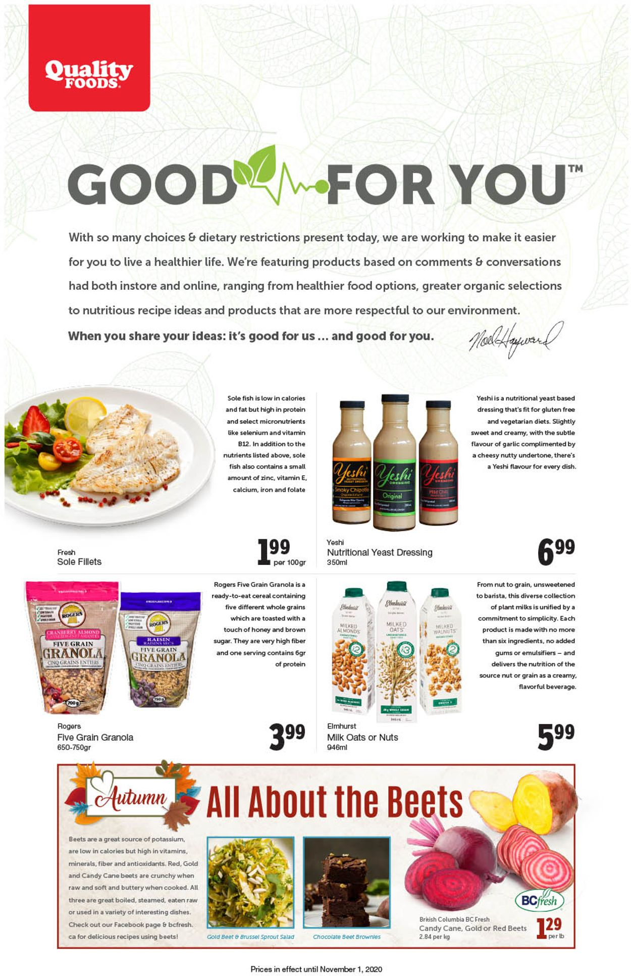 Quality Foods Flyer - 10/26-11/01/2020