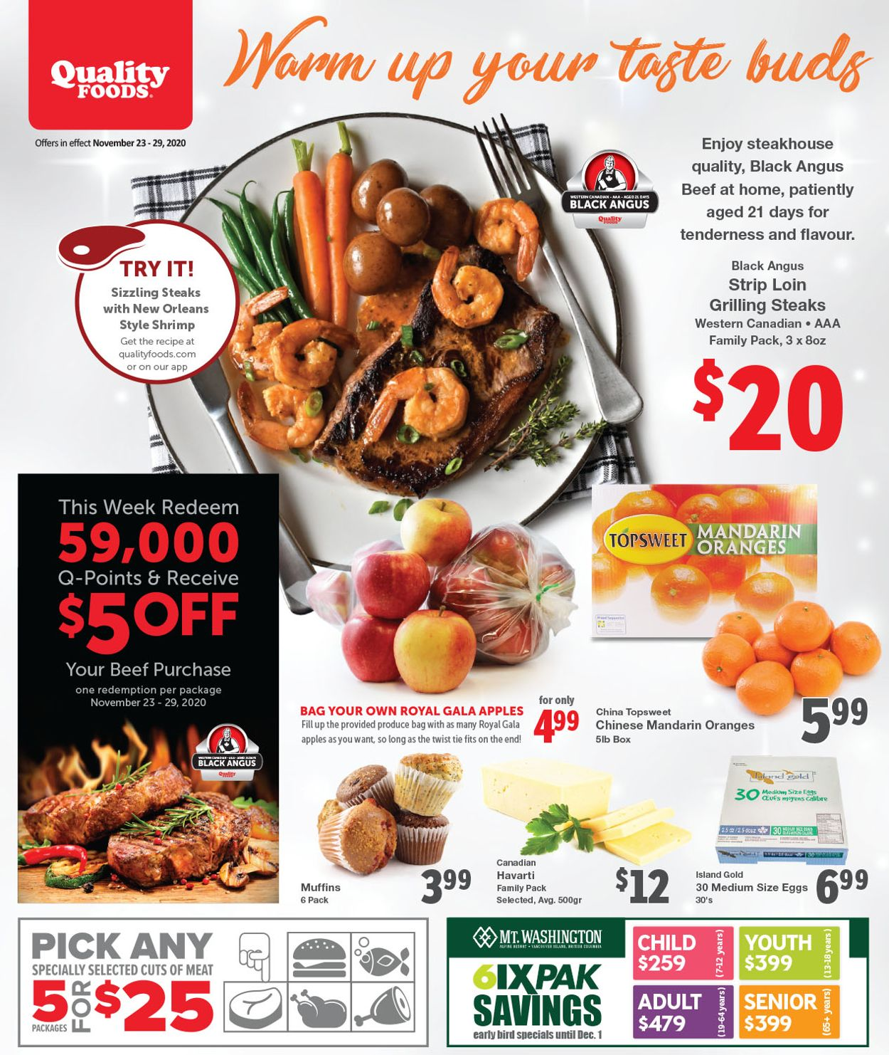 Quality Foods - Black Friday 2020 Flyer - 11/23-11/29/2020
