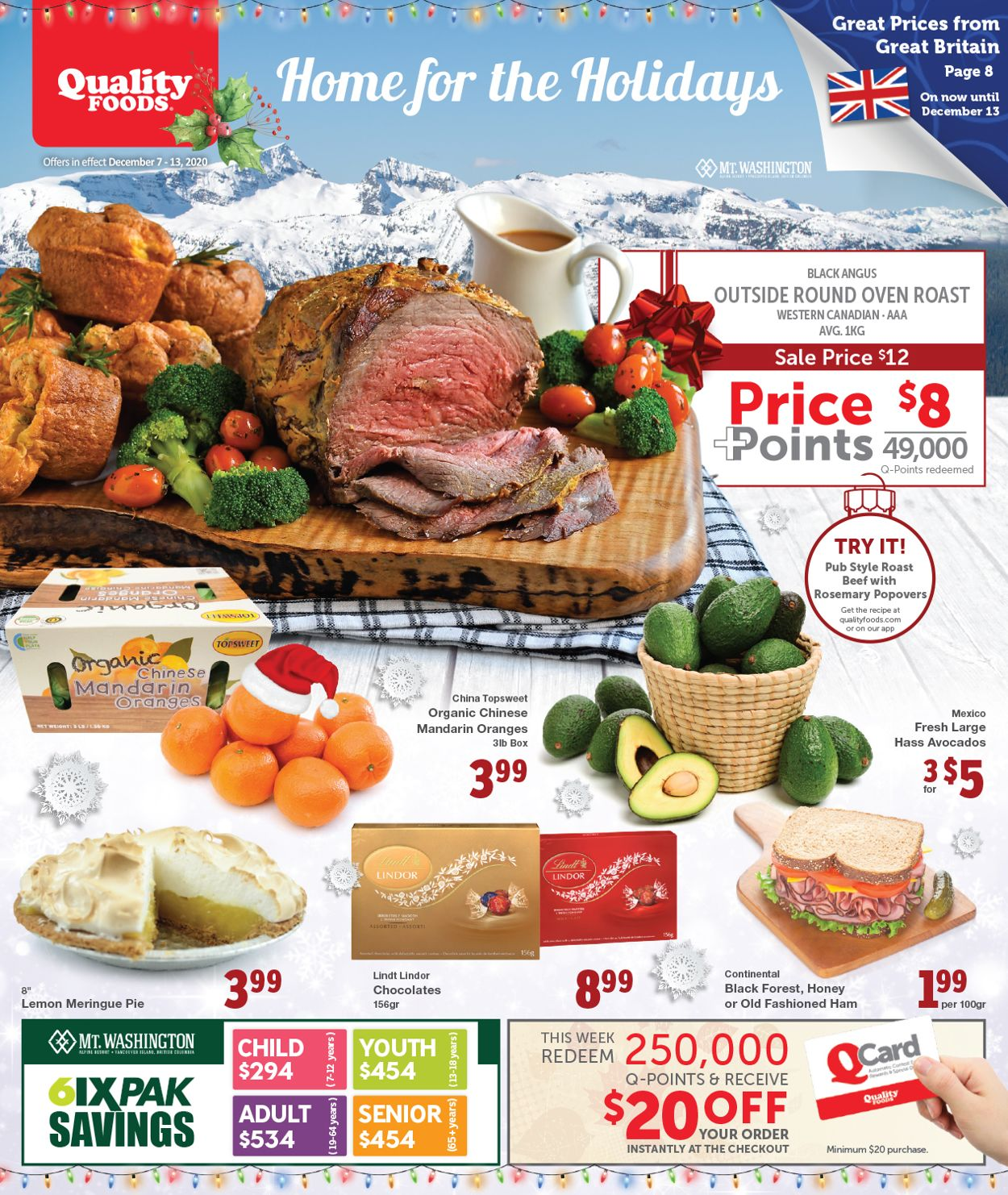 Quality Foods - Christmas 2020 Flyer - 12/07-12/13/2020