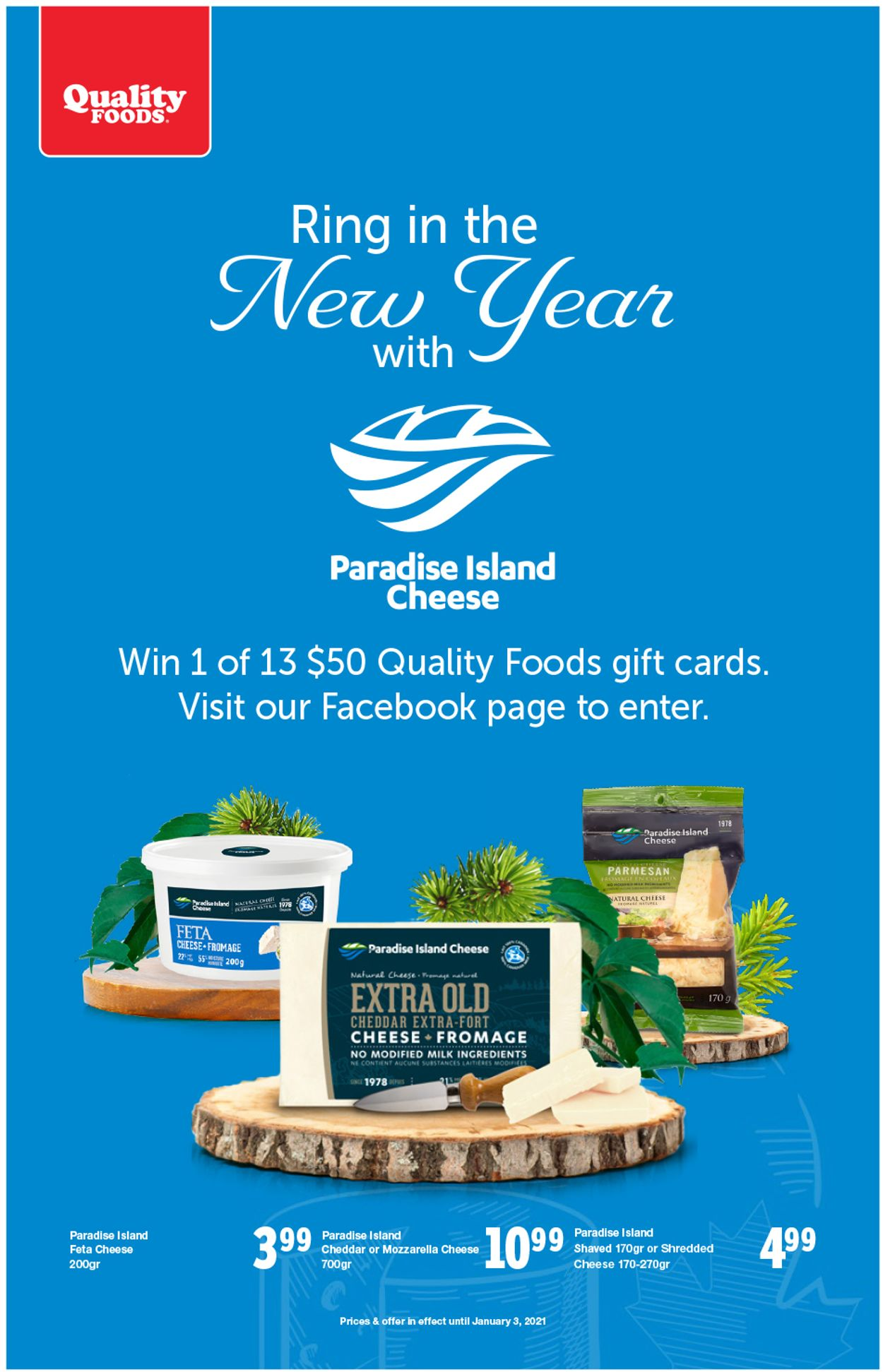 Quality Foods - New Year 2021 Flyer - 12/28-01/03/2021