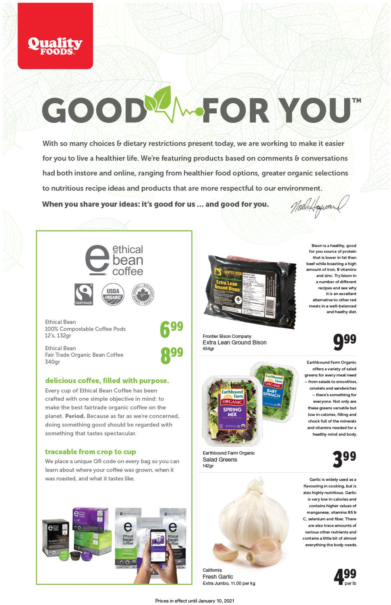 Quality Foods Flyer - 01/04-01/10/2021