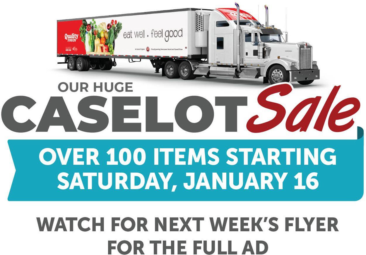 Quality Foods CASELOT EARLYBIRD Flyer - 01/16-01/17/2021