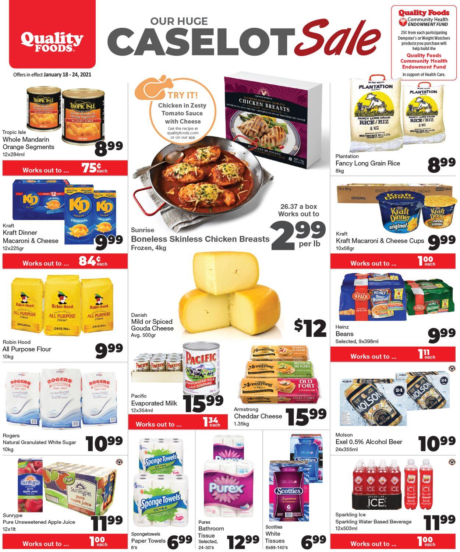 Quality Foods -  CASELOT SALE Flyer - 01/18-01/24/2021