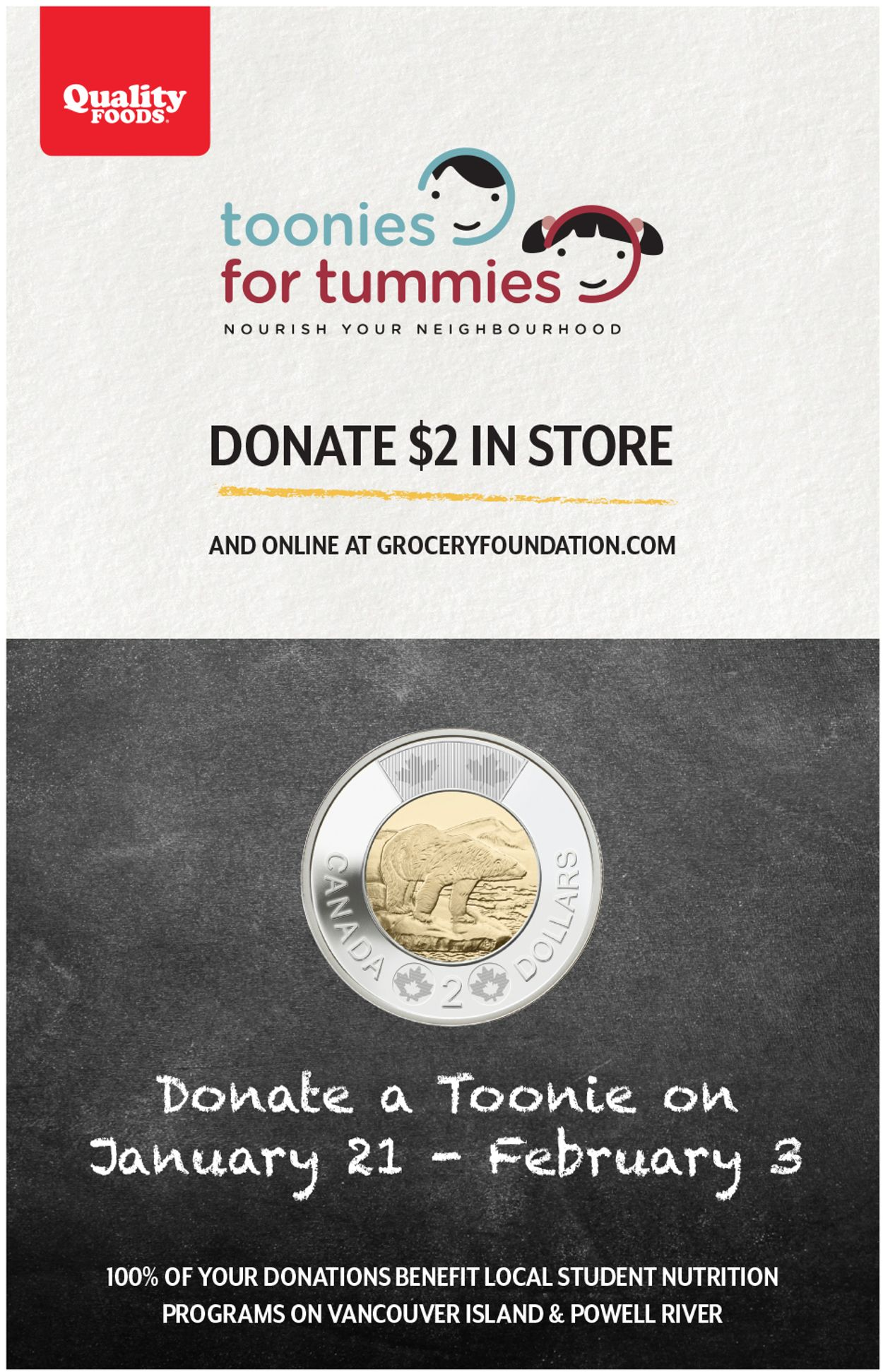Quality Foods - Toonies for Tummies Flyer - 01/21-02/03/2021
