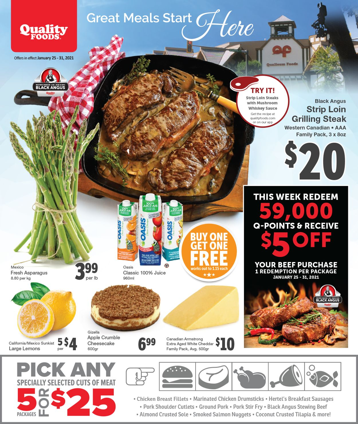 Quality Foods Flyer - 01/25-01/31/2021