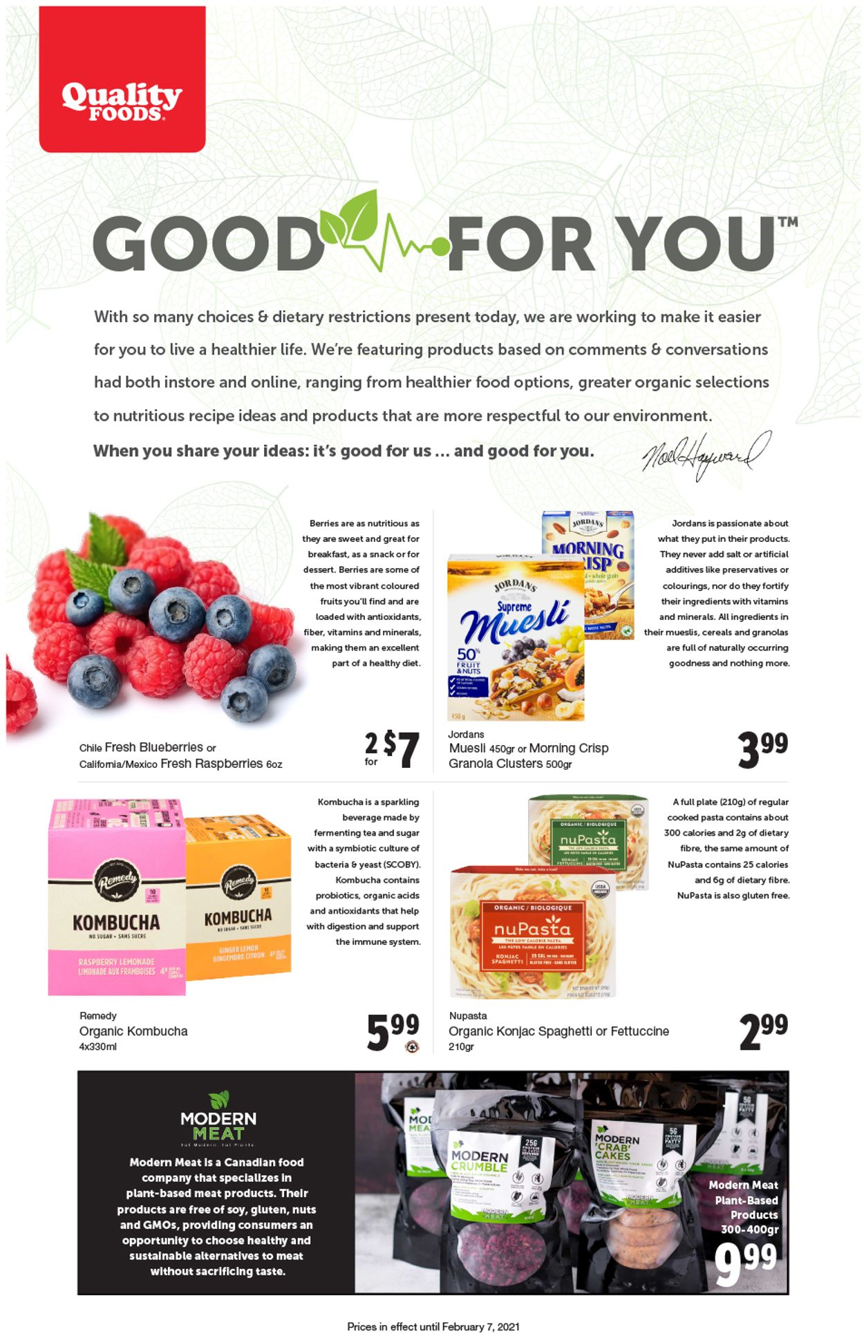 Quality Foods Flyer - 02/01-02/07/2021