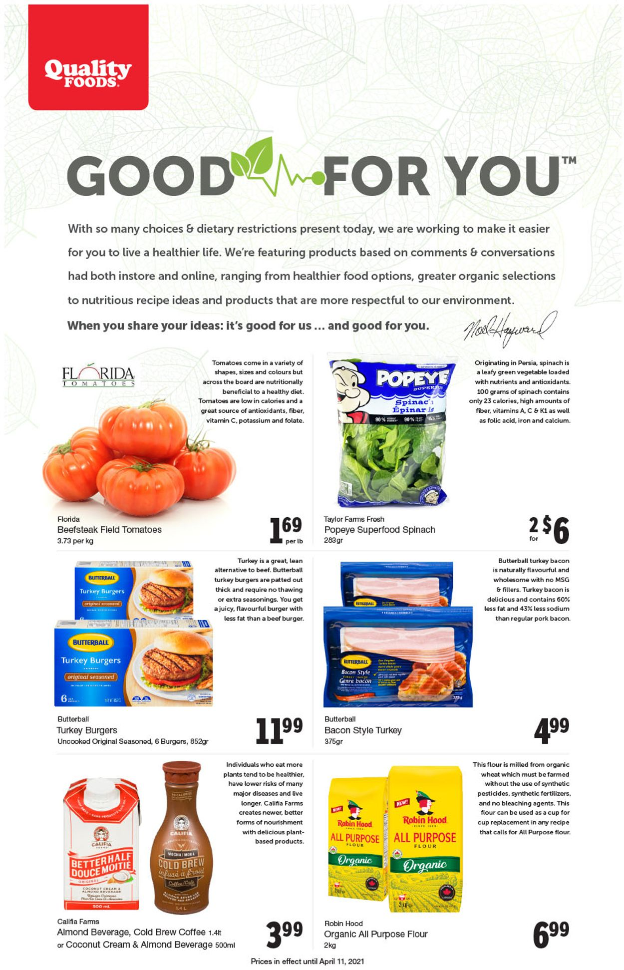 Quality Foods Flyer - 04/05-04/11/2021
